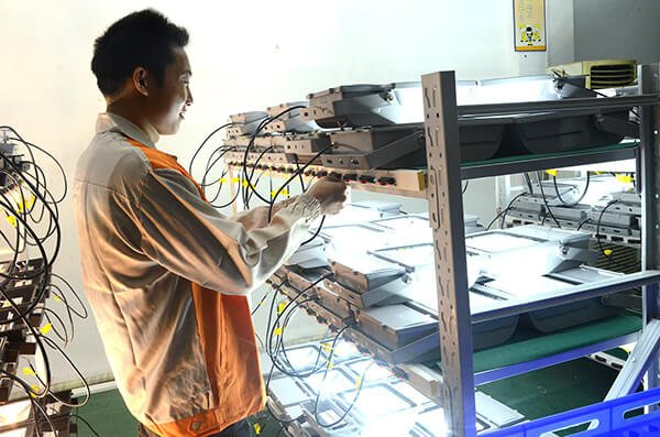 LED flood lights mass production