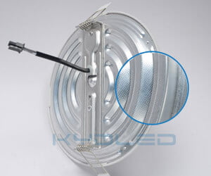 1070 cold forging aluminum of led round panel light
