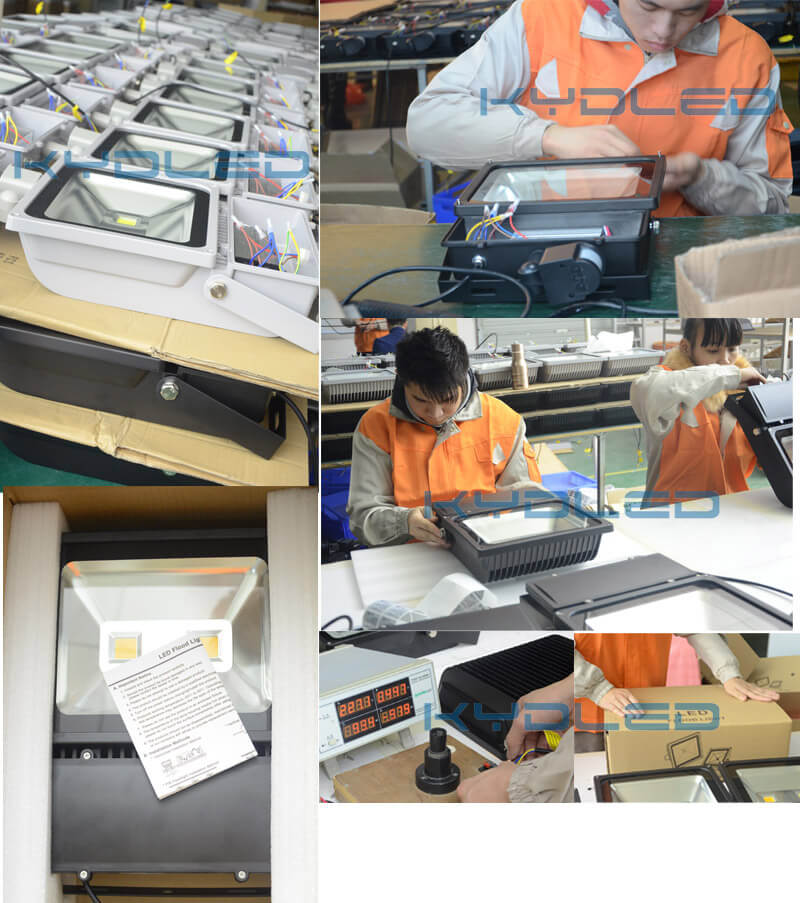 200W LED floodlight mass production