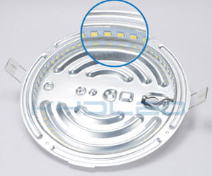 led round ceiling light uses Epistar chips