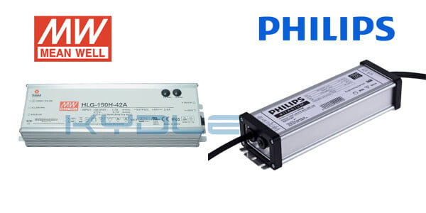 KYD LED high bay fixture uses Meanwell or Philips driver