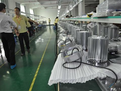 LED high bay lights manufacturer mass production