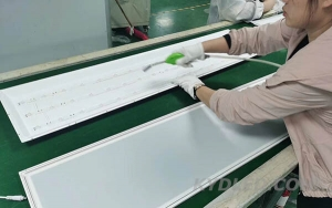 backlit LED panel light production