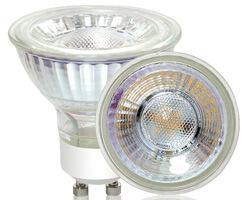 5W Glass GU10 LED lamp