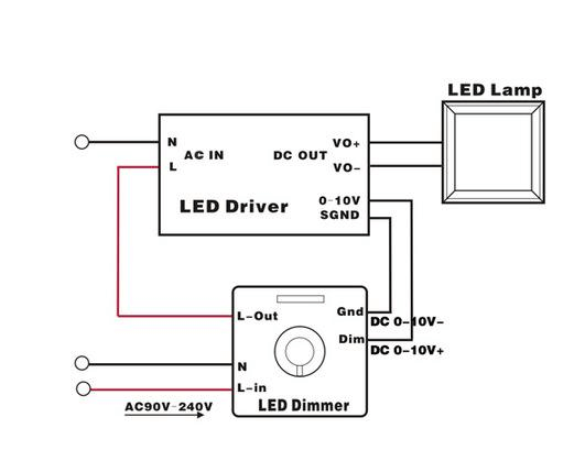 LED High Bay Lights wire diagram